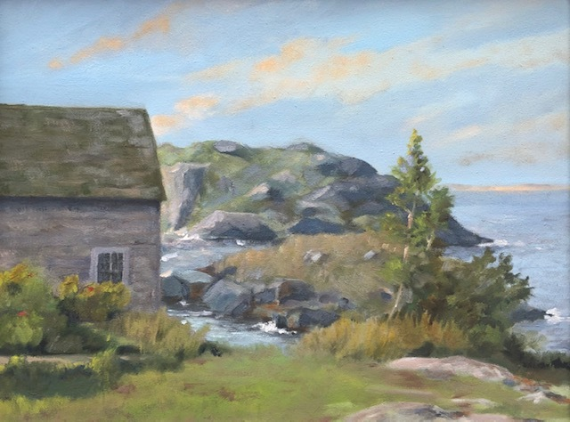 Barrier Islands Monhegen Island, Maine-oil on canvas