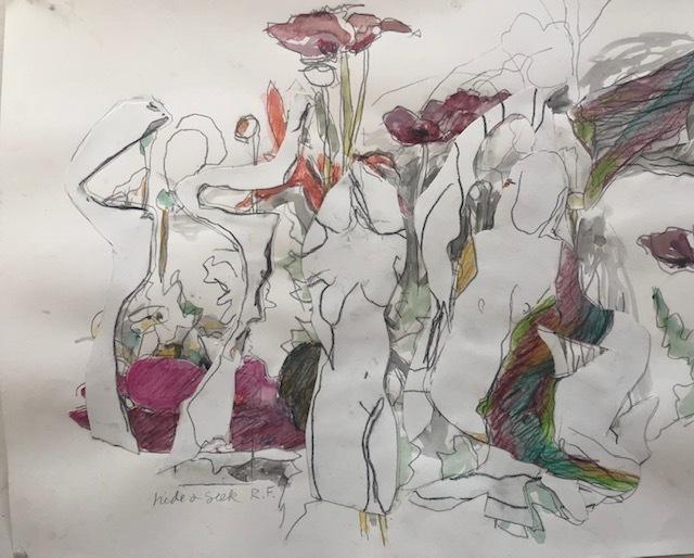 Hide and Seek-Watercolor Collage