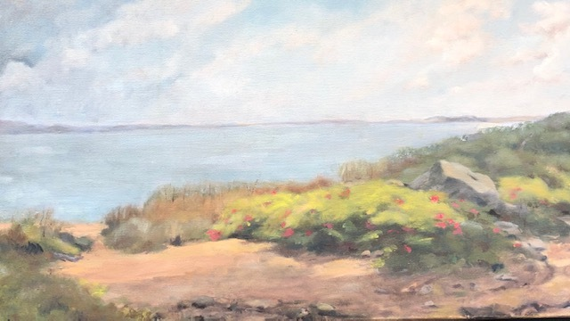 Looking Towards Ballards-oil on canvas