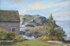 Barrier Islands Monhegen Island, Maine-oil on canvas