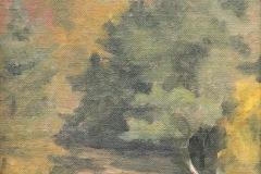 Crescent Beach Block Island-oil on canvas
