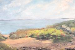 Looking Towards Ballards-oil on canvas
